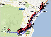 Sizilien Karte ätna.ätna Sizilien Rifugio Sapienza Seilbahn Allradbus